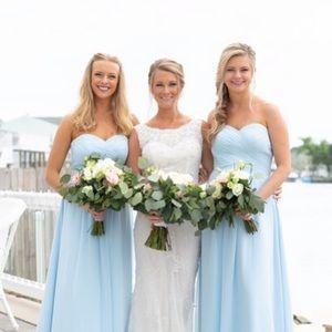 Light Blue Azazie Bridesmaid Dress💙